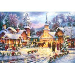 CASTORLAND Puzzle Zasněžená vánoční vesnička 1500 dílků