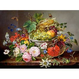 CASTORLAND Puzzle Zátiší s květinami a ovocem 2000 dílků
