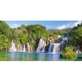 CASTORLAND Puzzle  4000 dílků - Vodopády, Národní park Krka