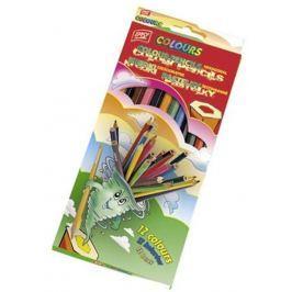 EasyColours dřevěné pastelky  šestihranné 12 barev/sada