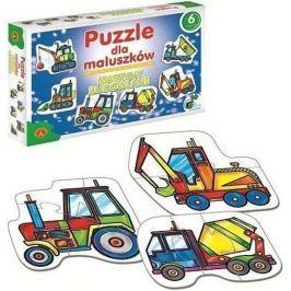 ALEXANDER Dětské Puzzle 6v1 - Stavební stroje (2-7 dílků)