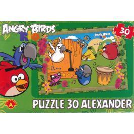ALEXANDER Dětské puzzle Angry Birds RIO: Vystoupení 30 dílků