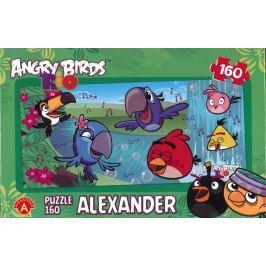 ALEXANDER Panoramatické puzzle Angry Birds RIO: U vody 160 dílků
