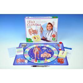 PEXI Tělo člověka kvíz společenská vzdělávací hra 30x25cm v krabici