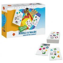 PEXI Sleduj a najdi - Barevné piktogramy společenská hra v krabici 24x20x5cm