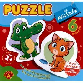 ALEXANDER Puzzle 6v1 Zvířátka 2-7 dílků