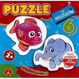 ALEXANDER Puzzle 6v1 Zvířátka v ZOO 2-7 dílků