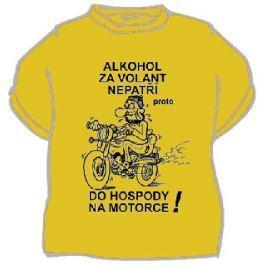 Vtipné alko tričko - Alkohol za volant nepatří, XXXL písková