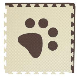 BABY Pěnový  koberec hnědá,béžová 1 díl