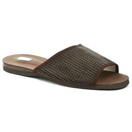 Pegres 3009 hnědé pánské nadměrné pantofle, 48