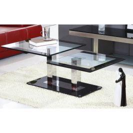 Tempo Kondela Konferenční stolek, ocel/sklo, GABRIEL