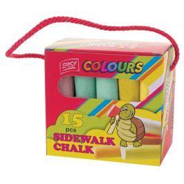 EASY Colours-chodníkové křídy 15 ks/sada