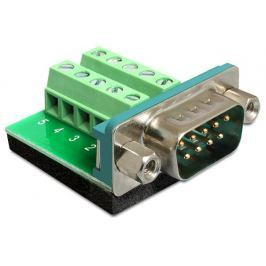DeLock Adaptér D-Sub 9 samec > svorkovnice 10 pinů
