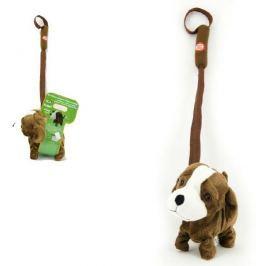 Teddies Pes na tyčce plyš 16cm chodící na baterie se zvukem
