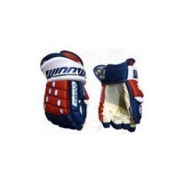 """WinnWell Hokejové rukavice  Pro-Stock, 13"""", červená/černá/bílá"""