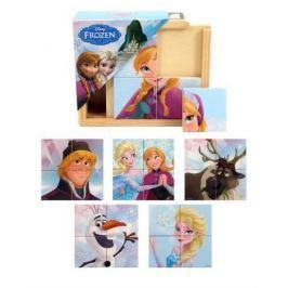 PLAYME Dřevěné puzzle 6v1 Disney Ledové království 6x4 dílky