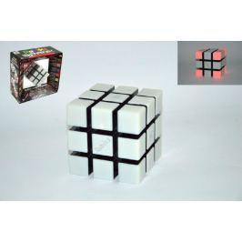 Teddies Rubikova kostka hlavolam 9x9x9cm plast 6 her na baterie se zvukem se světlem v k