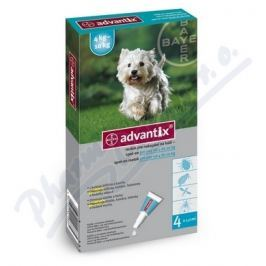 KVP PHARMA Advantix pro psy spot.on.od 4 do 10kg a.u.v.4x1ml