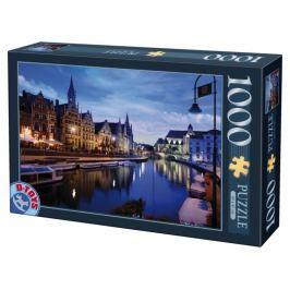 D-TOYS Puzzle Noční Gent, Belgie 1000 dílků
