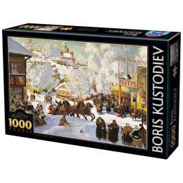 D-TOYS Puzzle  73848 B. Kustodiev: Karneval 1000 dílků