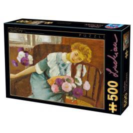 D-TOYS Puzzle  73914 S. Luchian: Lorica s chryzantémami 500 dílků