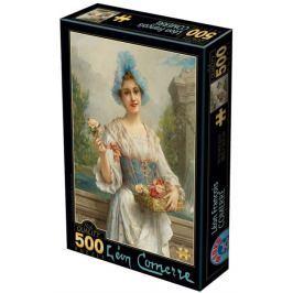 D-TOYS Puzzle  73921 L. F. Comerré: Prodavačka květin 500 dílků
