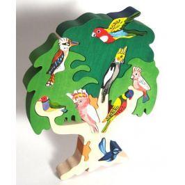 FAUNA Dřevěné puzzle z masivu  Ptačí strom: Austrálie