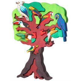 FAUNA Dřevěné puzzle z masivu  Ptačí strom: Jižní Amerika