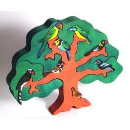 FAUNA Dřevěné puzzle z masivu  Ptačí strom: Asie