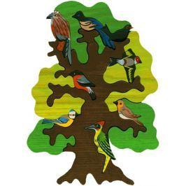 FAUNA Dřevěné puzzle z masivu  Ptačí strom: Evropa