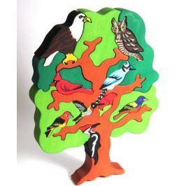 FAUNA Dřevěné puzzle z masivu  Ptačí strom: Severní Amerika