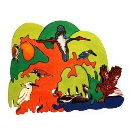FAUNA Dřevěné puzzle z masivu  Ptačí strom: Evropští vodní ptáci