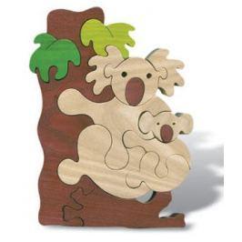 FAUNA Dřevěné puzzle z masivu  Koala velká