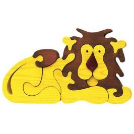 FAUNA Dřevěné puzzle z masivu  Lev velký