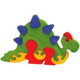 FAUNA Dřevěné puzzle z masivu  Stegosaurus velký
