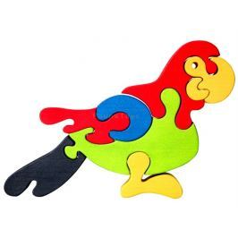 FAUNA Dřevěné puzzle z masivu  Papoušek velký