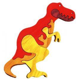 FAUNA Dřevěné puzzle z masivu  T-Rex velký