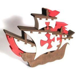 FAUNA Dřevěné puzzle z masivu  Loď Santa Maria