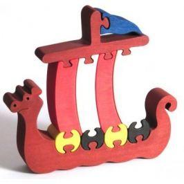 FAUNA Dřevěné puzzle z masivu  Loď Vikingů velká