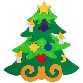 FAUNA Dřevěné puzzle z masivu  Vánoční stromeček velký