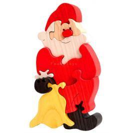 FAUNA Dřevěné puzzle z masivu  Santa Claus velký