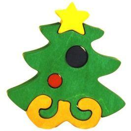 FAUNA Dřevěné puzzle z masivu  Vánoční stromeček malý
