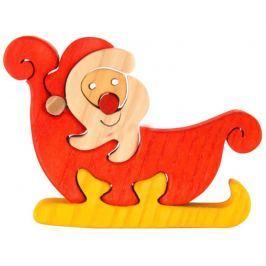 FAUNA Dřevěné puzzle z masivu  Santa Claus malý
