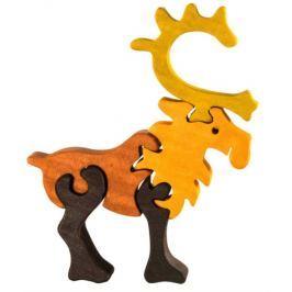 FAUNA Dřevěné puzzle z masivu  Sob malý