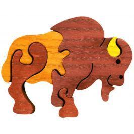 FAUNA Dřevěné puzzle z masivu  Bizon malý