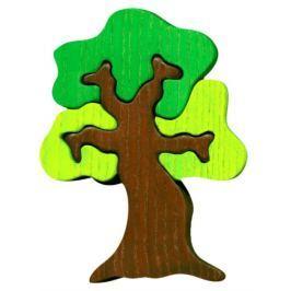 FAUNA Dřevěné puzzle z masivu  Listnatý strom malý