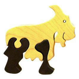 FAUNA Dřevěné puzzle z masivu  Kozel malý