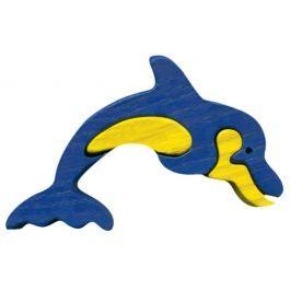 FAUNA Dřevěné puzzle z masivu  Delfín malý