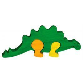 FAUNA Dřevěné puzzle z masivu  Stegosaurus malý