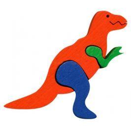 FAUNA Dřevěné puzzle z masivu  T-Rex malý